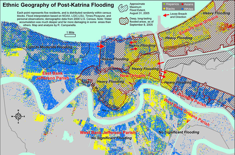 Journal Of American History Through The Eye Of Katrina An Ethnic Geography Of New Orleans